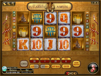 3Dice Online Slot Machine - Tutankhamon