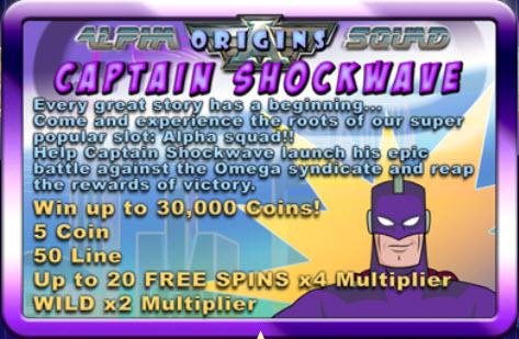 Shockwave Online Slot Machine Image