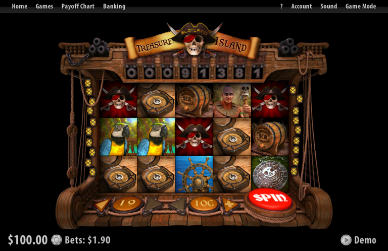 Treasure Island slot machine image